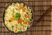 Homemade Quick Ramen Noodles — Stock Photo
