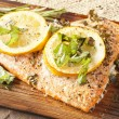 Stock Photo: Fresh Grilled Salmon