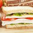 Fresh Homemade Turkey Sandwich — Stock Photo #20058329