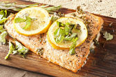 Fresh Grilled Salmon — Stock Photo