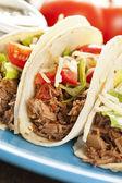 Tacos de carne mechada casera fresca — Foto de Stock
