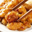Homemade Orange Chicken with Rice - Stock Photo