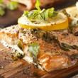 Fresh Grilled Salmon — Stock Photo #20060111