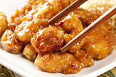 Homemade Orange Chicken with Rice — Stock Photo