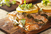 Fresh Grilled Salmon — Stockfoto