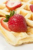 Fresh Homemade Belgium Waffles — Stock Photo