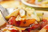 Horká domácí minestrone polévka — Stock fotografie