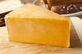 Traditional Yellow Cheddar Cheese — Stock Photo