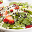 fresh homemade strawberry spinach salad — Stock Photo