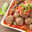Homemade Meatballs in Red Tomato Sauce — Stock Photo #20096343