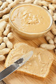Creamy Brown Peanut Butter — Stock Photo