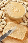 Creamy Brown Peanut Butter — Stock Photo