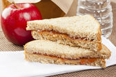 Peanut Butter and Jelly Sack Lunch — Stock Photo