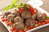 Homemade Meatballs in Red Tomato Sauce — Stock Photo