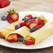 Stock Photo: Fresh Homemade Strawberry Crepes