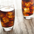 Stock Photo: Refreshing Brown Sodwith Ice