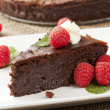 Stock Photo: homemade chocolate cake