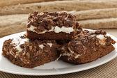 Brownies caseros chocolate rica — Foto de Stock