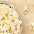 Stock Photo: Crunchy white buttered popcorn