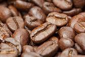 Czarny organicznych ziaren kawy — Zdjęcie stockowe