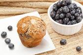 Fresh Homemade blueberry Muffin — Stock Photo