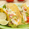 Homemade fresh fish tacos — Stock Photo