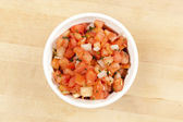 Fresh Red Salsa — Stock Photo