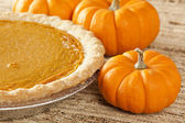 Fresh Homemade Pumpkin Pie — Stock Photo