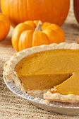 Fresh Homemade Pumpkin Pie — Stock Photo