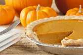 Fresh Homemade Pumpkin Pie — Photo