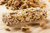 Organic Almond and Raisin Granola Bar — Stock Photo