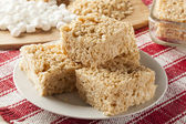 Marshmallow Crispy Rice Treat — Stock Photo