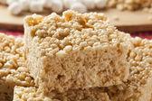 Tratar de arroz crocante de marshmallow — Foto Stock