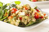 Organic Vegan Quinoa with vegetables — Stock Photo