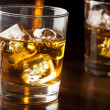 Stock Photo: Golden Brown Whisky on rocks
