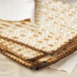 Homemade Kosher Matzo Crackers — Stock Photo