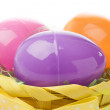 Colored Plastic Easter Eggs — Stock Photo