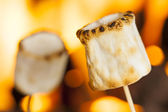 Delicious White Fluffy Roasted Marshmallows — Stock Photo