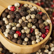 Raw Whole Four Peppercorn Blend - Stock Photo