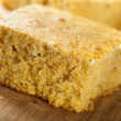 Stock Photo: Golden Organic Homemade Cornbread