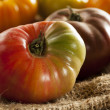 Fresh Organic Ripe Heirloom Tomatoes — Foto Stock
