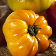 Stock Photo: Fresh Organic Ripe Heirloom Tomatoes
