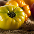 Fresh Organic Ripe Heirloom Tomatoes - Stock Photo