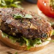 Royalty-Free Stock Photo: Homemade Organic Vegetarian Mushroom Burger