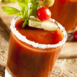 Stock Photo: Spicy Bloody Mary Alcoholic Drink