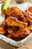 Hot and Spicey Buffalo Chicken Wings — Stock Photo
