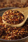 Organic Spicy Red Pepper Flakes — Stock Photo