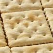 Stock Photo: Organic Whole Wheat Soda Crackers