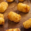 Organic Fried Tater Tots — Stock Photo