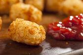 Organic Fried Tater Tots — Stock Photo